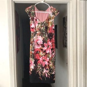 DB Floral 🌸 Sheath Dress Size 14